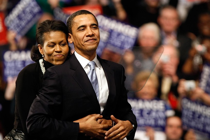 Michelle i Barack Obama od lat uchodzą za kochającą, wspierającą się parę /Win McNamee/Getty Images /Getty Images