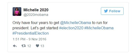 Michelle Obama 2020 /Twitter/Printscreen /INTERIA.PL