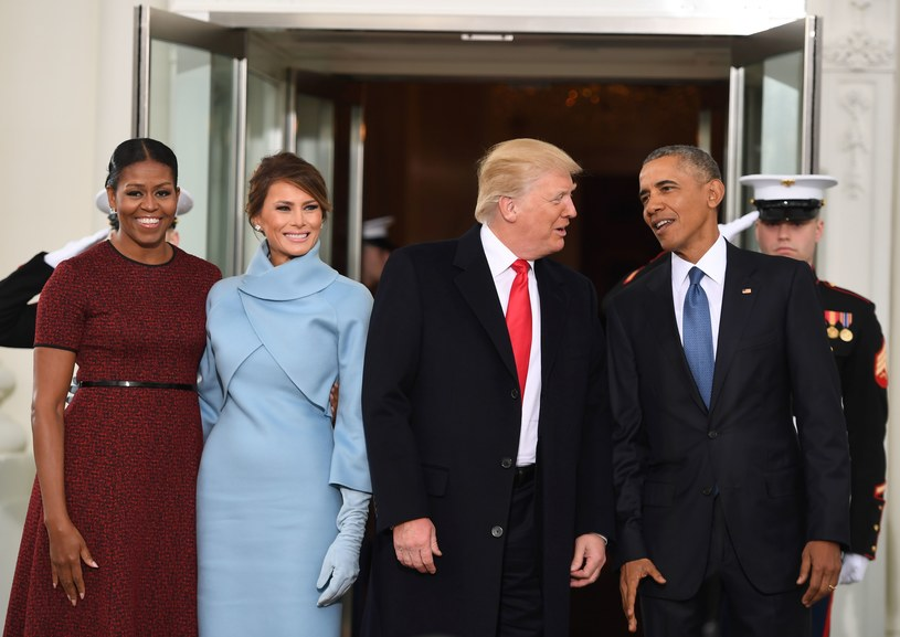 Michelle Obama, Melania Trump, Donald Trump, Barack Obama /AFP