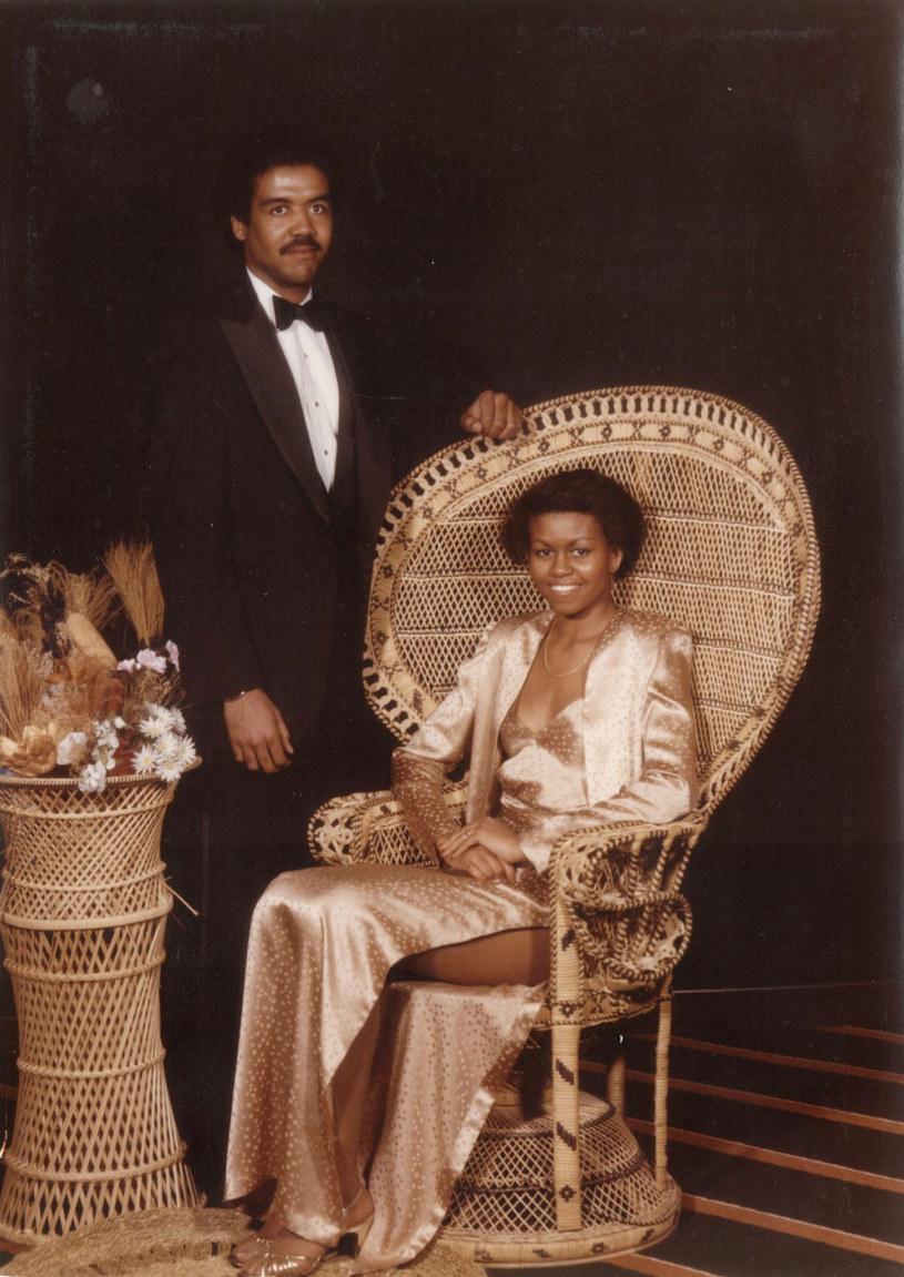 Michelle Obama na swojej studniówce w 1982 roku /Splash News /East News