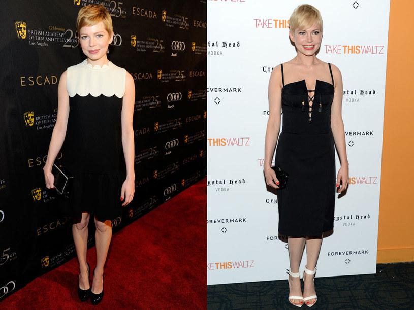 Michelle Williams uwielbia kobiece sukienki /Getty Images