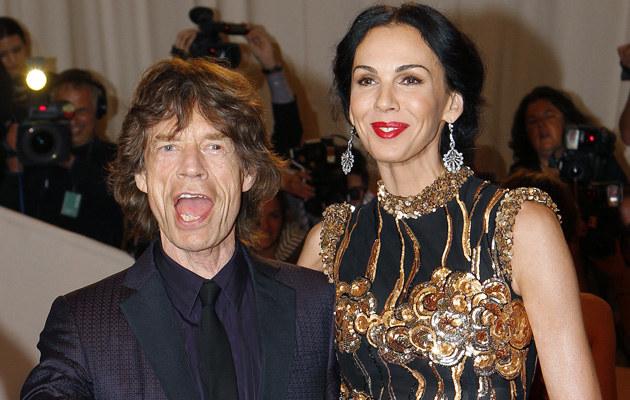Mick Jagger i L'Wren Scott /Agencja FORUM