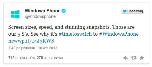 Microsoft naśmiewa się z premiery nowych telefonów Apple /materiały prasowe