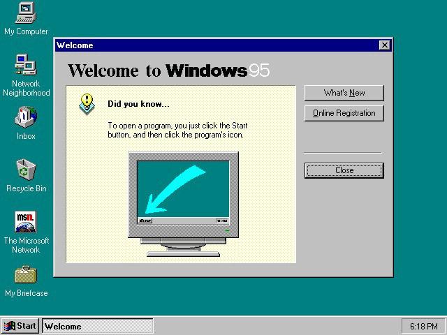 Microsoft Windows 95 /materiały prasowe