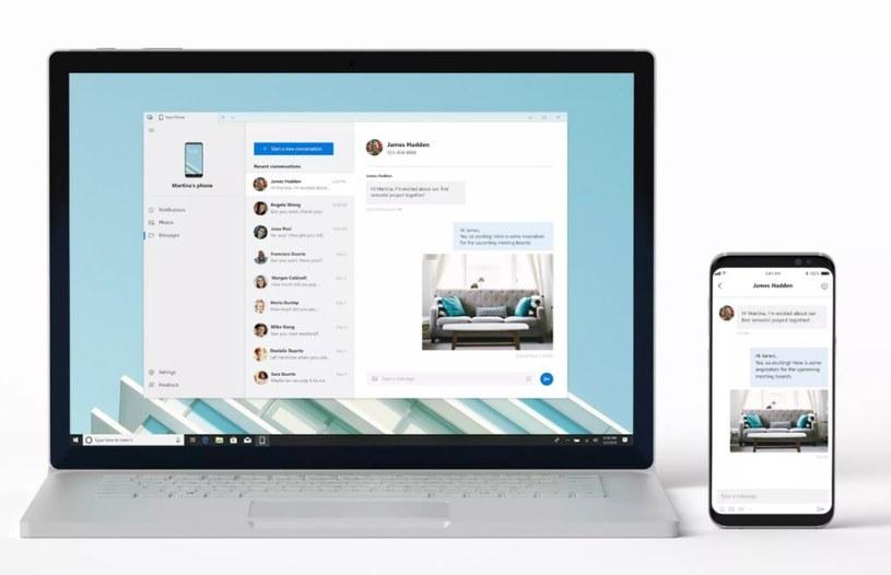 Microsoft Your Phone to odpowiednik Continuity od Apple /materiały prasowe