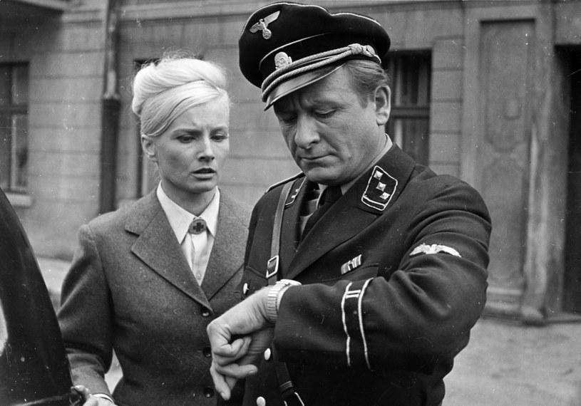 """Mieczysław Stoor na planie """"Stawki większej niż życie"""" /archiwum Filmu    /Agencja FORUM"""