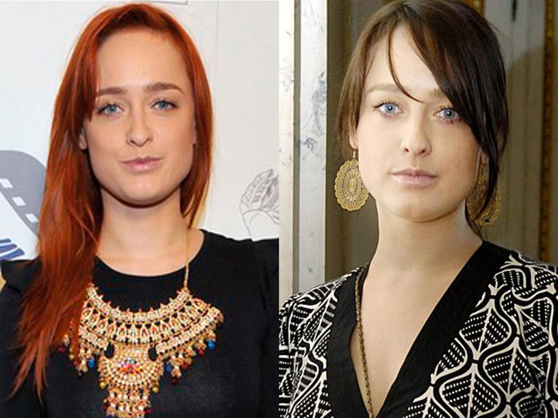 Miedziane włosy niekorzystnie podkreślają bladość cery aktorki  /AKPA