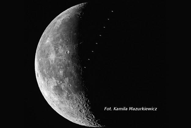 Międzynarodowa Stacja Kosmiczna na tle Księżyca Fot. Kamila Mazurkiewicz /Kosmonauta