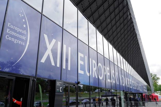 Międzynarodowe Centrum Kongresowe w Katowicach, gdzie odbywa się XIII Europejski Kongres Gospodarczy /Andrzej  Grygiel /PAP