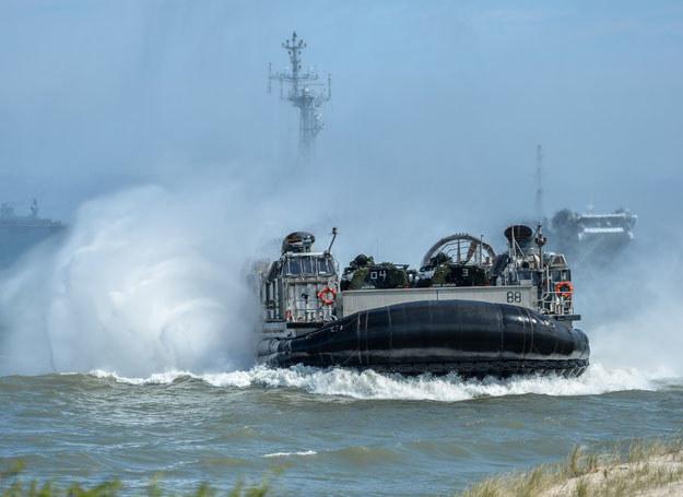 Miedzynarodowe manewry morskie BALTOPS 2015 na poligonie w Ustce /REPORTER /East News