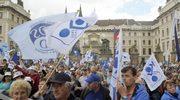 Międzynarodowy protest związkowców w Pradze