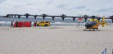 Międzyzdroje: Akcja ratunkowa. Na plaży lądował śmigłowiec LPR