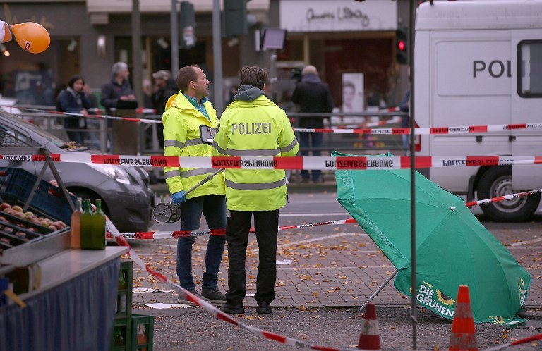 Miejsce ataku na Henriette Reker /AFP