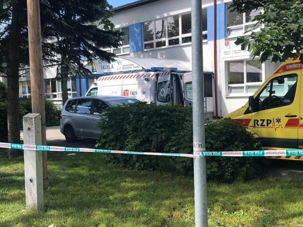Miejsce ataku na szkołę /Slovak Police Force HANDOUT /PAP/EPA
