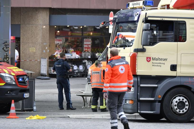 Miejsce ataku w Wurzburgu /NEWS5/ BAUERNFEIND /PAP/EPA