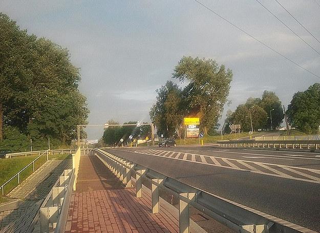 Miejsce blokady /Policja