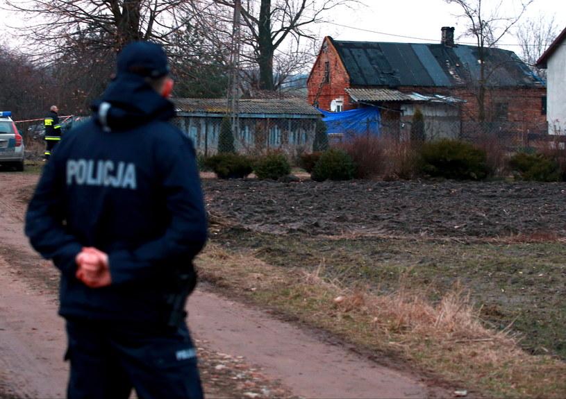 Miejsce brutalnego zabójstwa /Marcin Bednarski /PAP