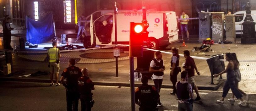 Miejsce czwartkowego ataku w Barcelonie /QUIQUE GARCIA /PAP/EPA