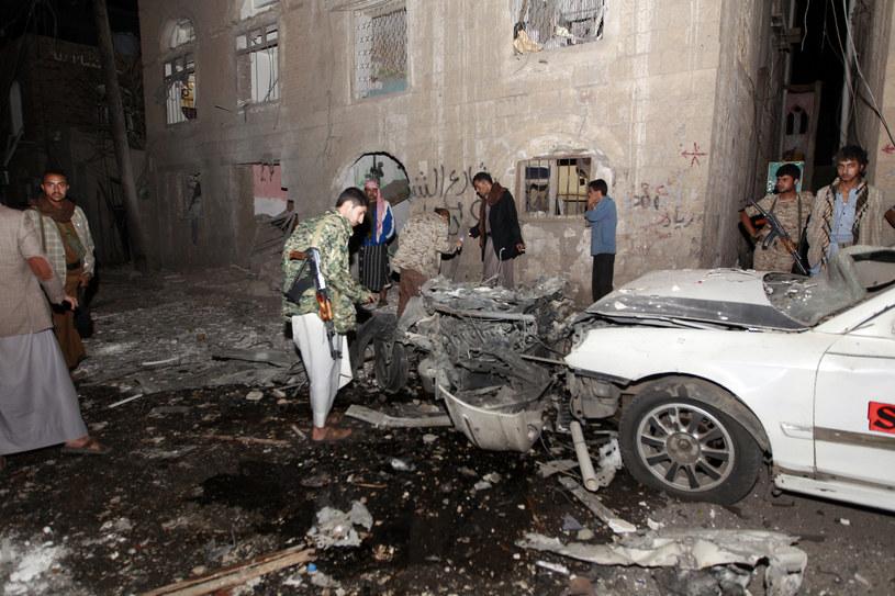 Miejsce eksplozji samochodu-pułapki /AFP