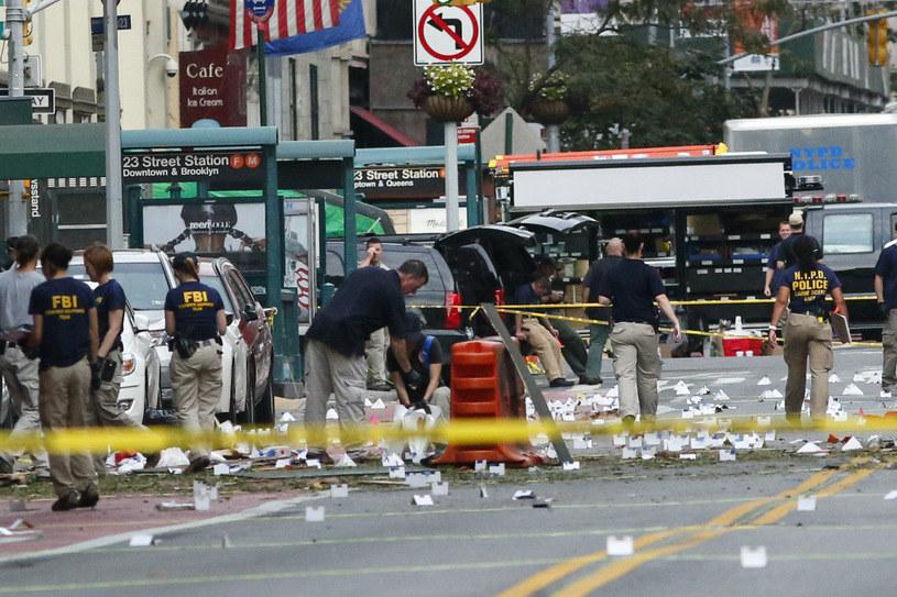Miejsce eksplozji w Nowym Jorku /AFP