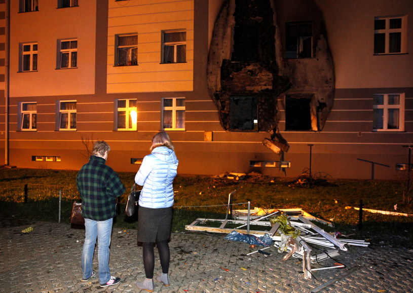 Miejsce eksplozji /Andrzej Grygiel  (PAP) /PAP