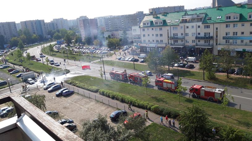 Miejsce, gdzie doszło do eksplozji. Zdjęcie pochodzi z Gorącej Linii RMF FM /RMF