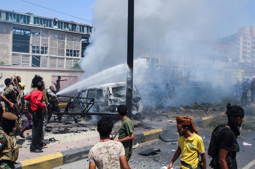 Miejsce, gdzie doszło do eksplozji /FAWAZ SALMAN / Reuters /Agencja FORUM