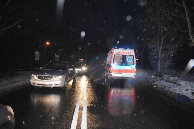 Miejsce, gdzie doszło do niecodziennego wypadku /KWP Łódź