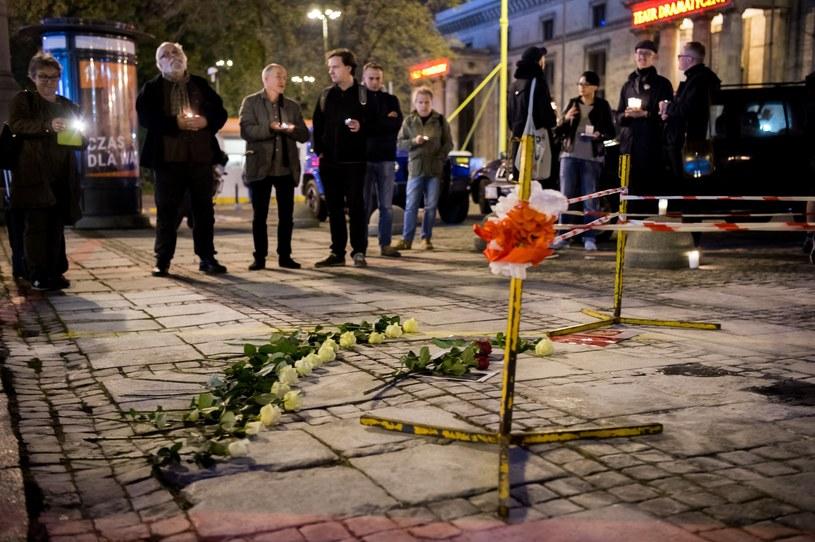 Miejsce, gdzie doszło do próby samospalenia /Agnieszka Sniezko /East News