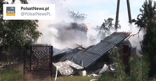 Miejsce, gdzie doszło do wybuchu /Polsat News /Twitter