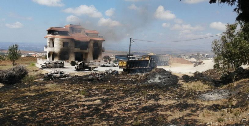 Miejsce, gdzie doszło do wybuchu /PAP/EPA/STR /PAP