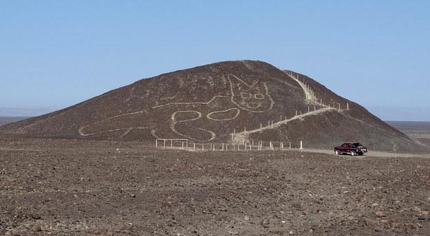 Miejsce, gdzie odkryto geoglif /Ministerstwo Kultury Peru /PAP/EPA