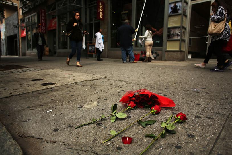 Miejsce, gdzie znaleziono ciało Mike'a Jonesa /Spencer Platt /Getty Images