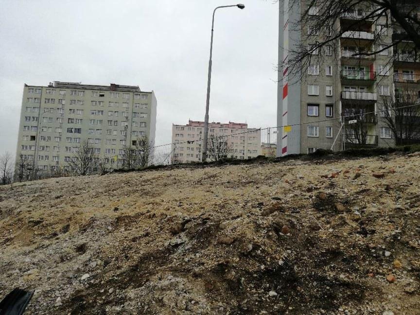 Miejsce, gdzie znaleziono niewybuch /Mateusz Czmiel /RMF FM