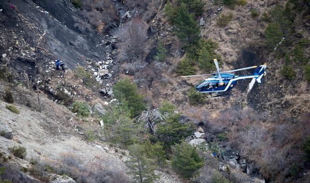 Miejsce katastrofy Airbusa A320 /F.BALSAMO/SIRPA GENDARMERIE/MINISTERE DE L'INTERIEUR HANDOUT /PAP/EPA