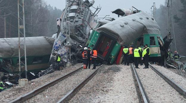 Miejsce katastrofy kolejowej, fot. J. Bednarczyk /PAP