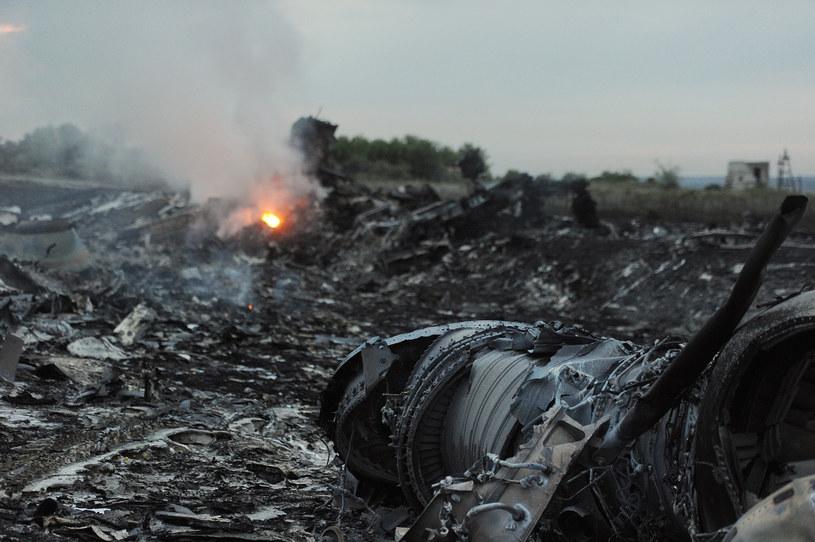 Miejsce katastrofy malezyjskiego boeinga /AFP
