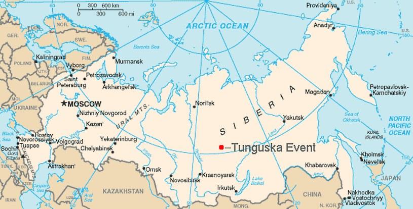 Miejsce katastrofy. Mapa CIA /materiały prasowe
