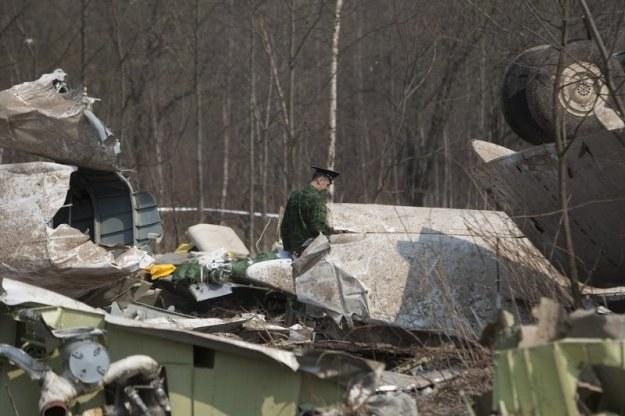 Miejsce katastrofy polskiego samolotu (zdjęcie z 13 kwietnia br.) / fot. M. Rigamonti /Reporter