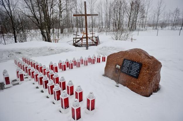 Miejsce katastrofy polskiego Tu-154M dzień przed drugą rocznicą wypadku/fot. W. Pacewicz /PAP