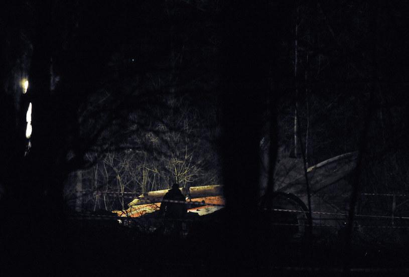 Miejsce katastrofy prezydenckiego samolotu /AFP