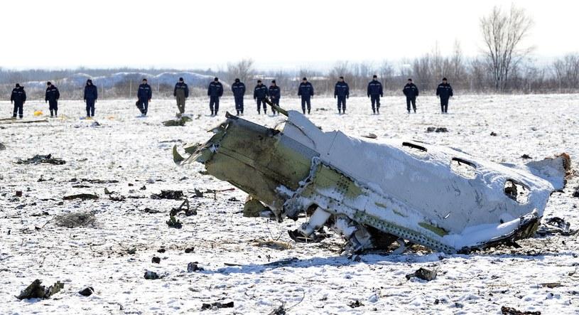 Miejsce katastrofy samolotu linii FlyDubai /AFP