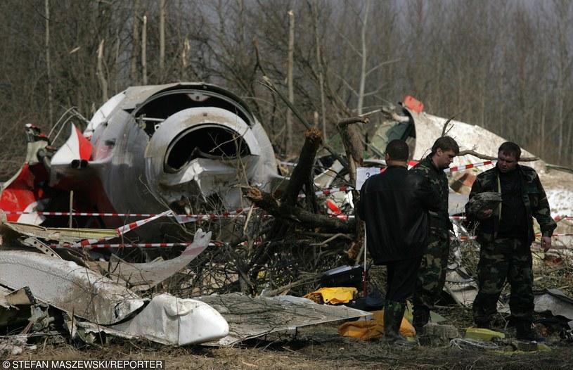 Miejsce katastrofy samolotu prezydenckiego Tu 154m w Smoleńsku /Stefan Maszewski /Reporter