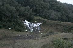 Miejsce katastrofy samolotu w pobliżu Medellin w Kolumbii