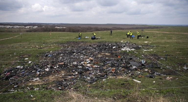 Miejsce katastrofy samolotu /AFP