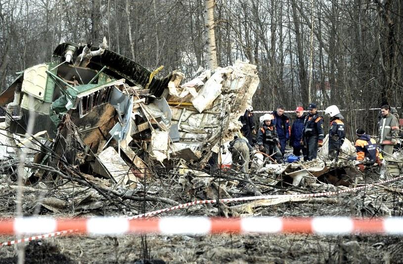 Miejsce katastrofy Tu-154 M /AFP