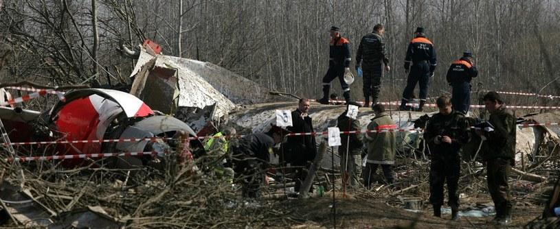 Miejsce katastrofy tupolewa /Stefan Maszewski /Reporter