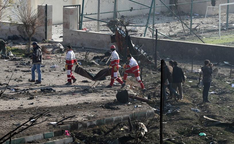 Miejsce katastrofy ukraińskiego samolotu /PAP/EPA