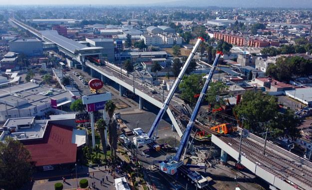 Miejsce katastrofy widziane z lotu ptaka /Carlos Ramirez /PAP/EPA