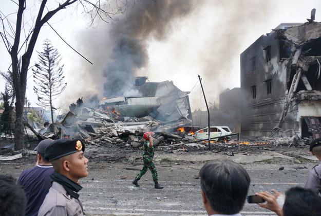 Miejsce katastrofy /Muhammad Zulfan Dalimunthe /AFP